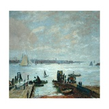 Portsmouth Harbour, 1907 Giclee Print by John William Buxton Knight