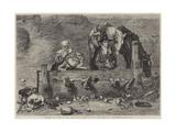 Hudibras and Ralpho in the Stocks Giclee Print by John Pettie