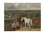 Exercising the Royal Horses, 1847-55 Giclee Print by John Frederick Herring Snr