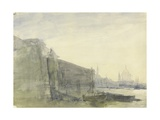 The Thames, Early Morning, Toward St. Paul'S, C.1849 (W/C with Graphite on Paper) Giclee Print by John William Inchbold