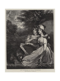 The Daughters of Sir T Frankland Giclee Print by John Hoppner