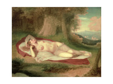 Ariadne Asleep on the Island of Naxos, 1831 Giclee Print by John Vanderlyn