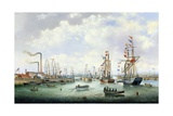 The Opening of Tyne Dock, 1859 Giclee Print by John Scott