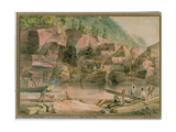 Erie Canal, Ny, 1831 Giclee Print by John William Hill