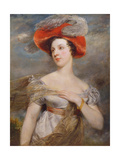 Portrait of Eliza Chester, 1820 Giclee Print by John Jackson