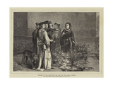 Plucking of the White and Red Roses in the Temple Garden Giclee Print by John Pettie