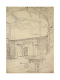 Interior of the Great Hall, Little Moreton Hall, Cheshire Giclee Print by John Sell Cotman