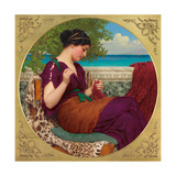 Far Away Thoughts, 1911 Giclee Print by John William Godward
