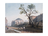Scotch Church and the Remains of London Wall, 1818 Giclee Print by John Varley