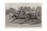 A Polo Pony Tandem Race at the Ranelagh Club Grounds Giclee Print by John Charlton