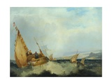 Shipping Off the Isle of Wight Giclee Print by John Sell Cotman