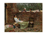 Gossip, C. 1885 Giclee Print by John William Waterhouse