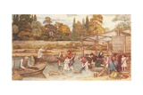 The Washing Place Giclee Print by John Roddam Spencer Stanhope