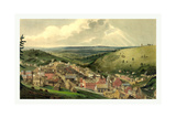 View of Pottsville Taken from Sharp Mountain and Respectfully Dedicated to the Enterprising Citizen Giclee Print by John Rubens Smith