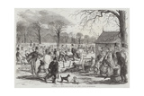 Skating in Hyde-Park Giclee Print by John Leech