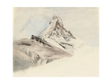 The Matterhorn, Switzerland, from the Northeast, 1849 Giclee Print by John Ruskin