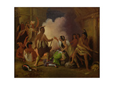 Pocahontas Saving the Life of Captain John Smith, C.1836-40 Giclee Print by John Gadsby Chapman