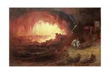 The Destruction of Sodom and Gomorrah, 1852 Giclée-tryk af John Martin
