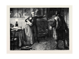 The Curate of Glevering: the Denunciation of Charles Trevor Giclee Print by John Dawson Watson
