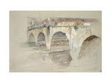 The Ponte Della Pietra Giclee Print by John Ruskin