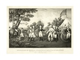 Surrender of General Burgoyne at Saratoga, N.Y., October 17th 1777, Pub. N. Currier, 1852 Giclee Print by John Trumbull