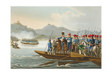 The Allied Army Crossing the Rhine to Invade France Giclee Print by John Heaviside Clark