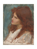 Head of a Girl, C. 1892-1900 Giclee Print by John William Waterhouse