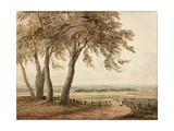 View from Polesden, Surrey, 1800 Giclée-Druck von John Varley