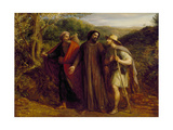 Christ's Appearance to the Two Disciples Journeying to Emmaus, 1835 Giclee Print by John Linnell
