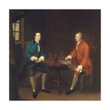 Two Gentlemen Seated at a Table Giclee Print by John Thomas Seton