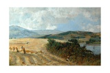 Harvest Time on the Conway River, C.1890 Giclee Print by John William Buxton Knight