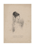 Frances Ann Kemble, Litho by Childs and Inman Giclee Print by John Hayter