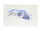 Mont Blanc from Saint-Martin-Sur-Arve Giclee Print by John Ruskin