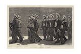 Blue Jackets Marching to Church Giclee Print by John Evan Hodgson