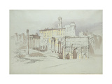 A Window of the Palazzo Tolomei Giclee Print by John Ruskin
