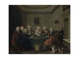 A Club of Gentlemen, C.1730 Giclee Print by Joseph Highmore