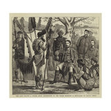 The Late Captain J Butler (Since Assassinated by the Nagas) Receiving a Deputation of Native Chiefs Giclee Print by Joseph Nash