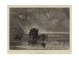 Crossing Lancaster Sands Giclee Print by Joseph Mallord William Turner