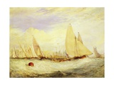 East Cowes Castle, the Seat of J Nash Esq., the Regatta Beating to Windward, 1828 Stampa giclée di Joseph Mallord William Turner