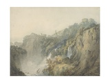 Tivoli with the Temple of the Sibyl and the Cascades, C.1796-97 Giclee Print by Joseph Mallord William Turner