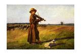 Jozef Marian Chelmonski (1849-1914), Herdsman, 1897 Giclee Print by Joseph Chelmonski