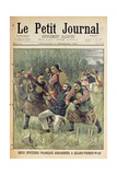 Two French Officers Assassinated at Quang-Tcheou-Wan by the Chinese Giclee Print by Jose Belon
