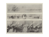The Disturbance Off Bahrein in the Persian Gulf, the Bombardment of the Pirate Dhows Giclee Print by Joseph Nash