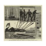 With the Mediterranean Fleet, H M S Monarch at Gun Cotton and Torpedo Practice Giclee Print by Joseph Nash