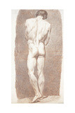 Study of a Male Nude, Seen from Behind, 1774 Giclee Print by Joseph Benoit Suvee