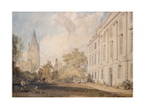 View of the Cathedral of Christ Church Giclee Print by Joseph Mallord William Turner