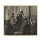 Entombment of Napoleon Iii, the Empress Eugenie Sprinkling the Coffin with Holy Water Giclee Print by Joseph Nash