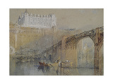 The Château of Amboise, C. 1830 (Watercolour with Bodycolour and Pen and Black Ink) Giclee Print by Joseph Mallord William Turner