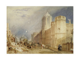 Christ Church College, Oxford, 1832 - 1833 Giclee Print by Joseph Mallord William Turner