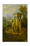 Classical Composition, a Tomb Giclee Print by Joseph Michael Gandy